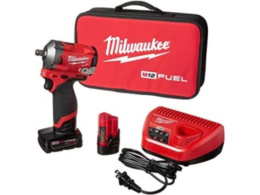 "Chave de Impacto á Bateria 1/2"" M12 Full Modelo 2555P-22 Milwaukee"