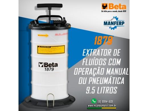 1879 - Extrator de fluidos, pneumático e manual, 9,5 litros Beta