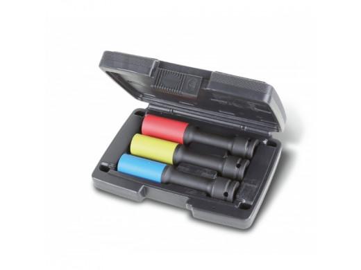 Jogo de 3 Soquetes de Impacto Para Porcas de Roda, Séries Longas, Coloridas, com Insertos Poliméricos 720LCL/C3 Beta