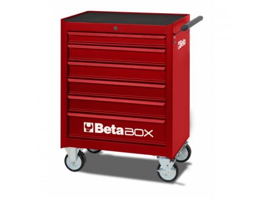 Carro de Ferramentas com 6 Gavetas Vermelho - C04-BOX-R Marca Beta