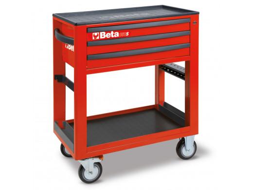 Carrinho para ferramentas de serviço com 3 gavetas Vermelho - C50S-R Marca Beta