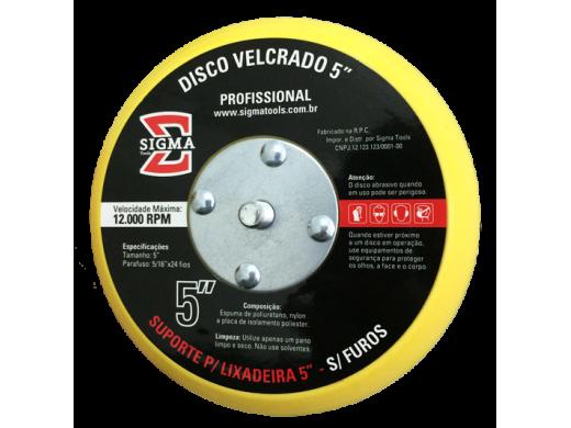 """Disco Velcrado 5"""" Sem Furos Sigma Tools"""