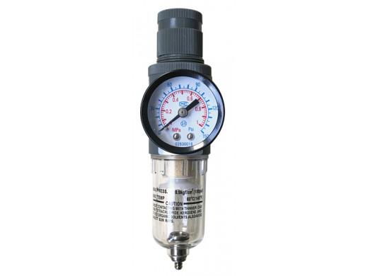 "FR-00 - Filtro Regulador de Ar Pequeno 1/4"" Profissional Sigma Tools"