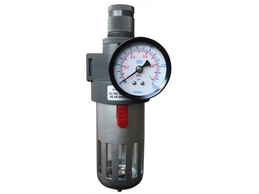 """FR-01 - Filtro Regulador de Ar Grande 1/2"""" Profissional Sigma Tools"""