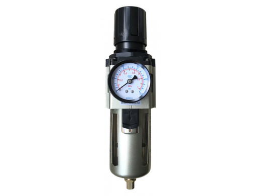 "FR-02 - Filtro Regulador de Ar Grande 1/2"" Profissional Plus Sigma Tools"