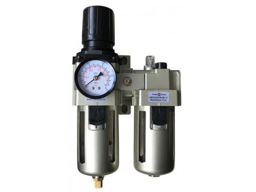 "FRL-02 - Conjunto Regulador e Lubrificador Grande 1/2"" Profissional Plus Sigma Tools"