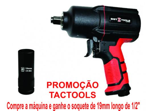 "SGT-0536E - Chave de Impacto 1/2"" Pneumática Super Torque Pistola + Soquete 1/2""-19mm Sigma Tools"