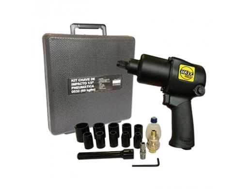 """SGT-0532K - Chave de impacto 1/2"""" Kit Pneumática Pistola"""